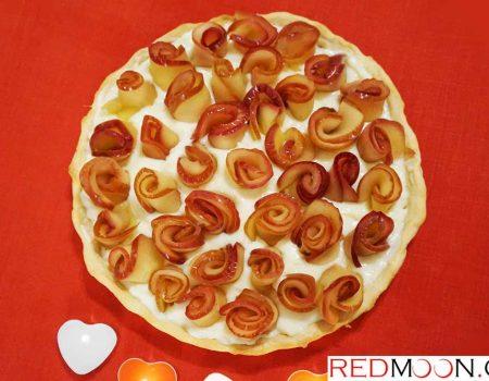 Τάρτα με τριαντάφυλλα μήλου